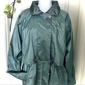 Women's Green Satin Jacket Size M